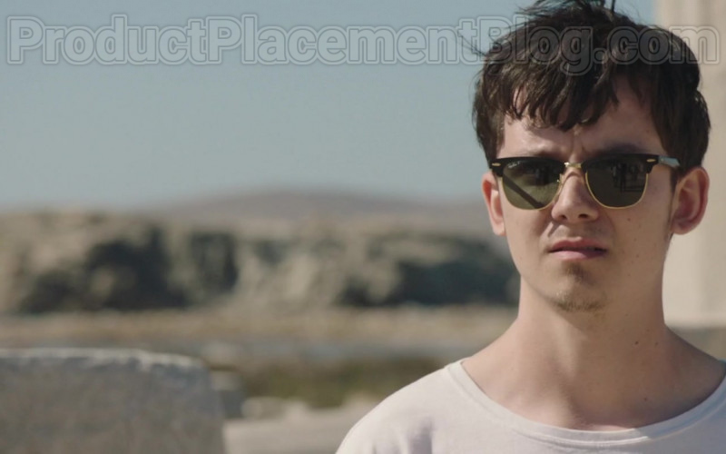 Ray-Ban Clubmaster Polarized Sunglasses of Asa Butterfield in Greed (2019)