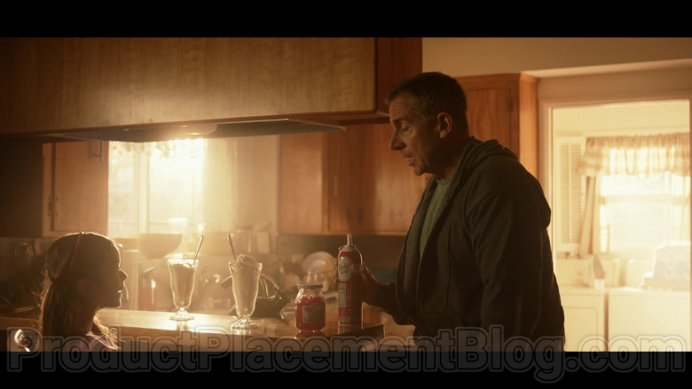 Reddi-wip Whipped Cream Held by Steve Carell as General Mark R. Naird in Space Force S01E04 Lunar Habitat (2020)
