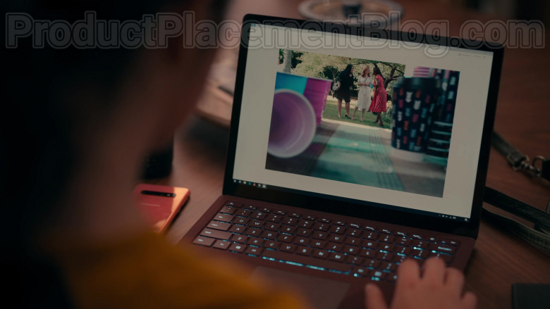 Samsung Galaxy Smartphone and Microsoft Surface Laptop in Sweet Magnolias S01E01 Pour It Out (2020)