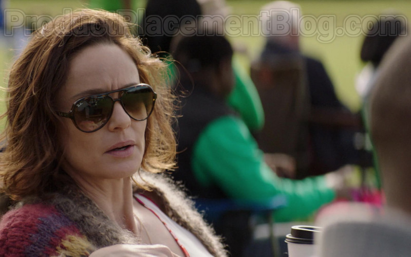 Sarah Wayne Callies as Dr. Robin Perry Wearing Ray-Ban RB4125 Cats 5000 Sunglasses in Council of Dads TV Show (1)