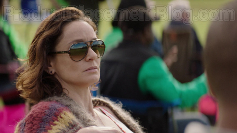 Sarah Wayne Callies as Dr. Robin Perry Wearing Ray-Ban RB4125 Cats 5000 Sunglasses in Council of Dads TV Show (2)