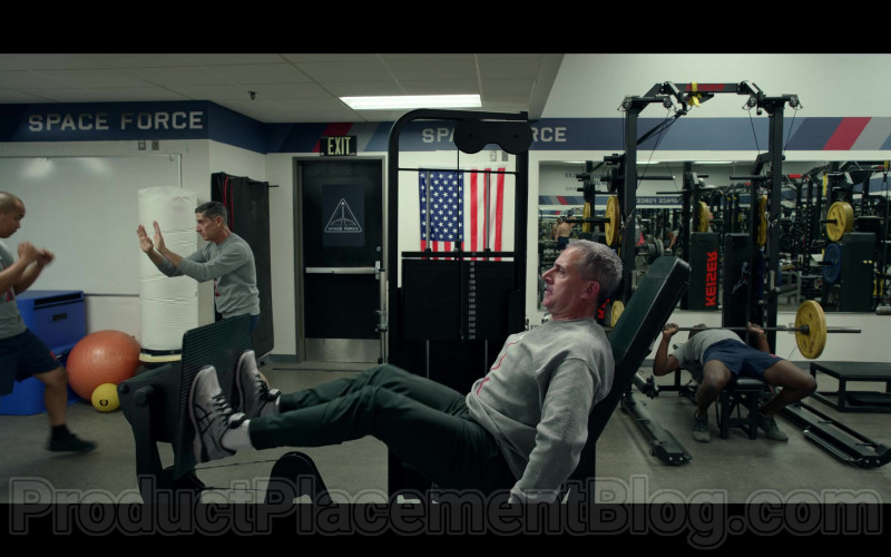 Steve Carell as General Mark R. Naird Wearing Asics Sneakers in Space Force S01E01 TV Show