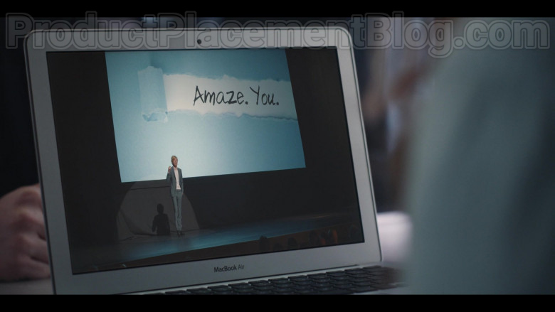 TV Show Actors Using Apple MacBook Air Laptop in Run S01E07 (1)