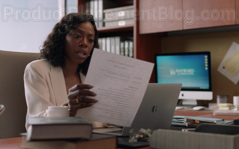 TV Show Cast Member Using Apple MacBook Laptop in Insecure S04E07 Lowkey Trippin' (2020)