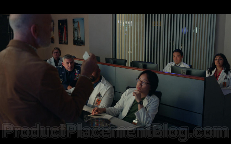 TV Show Cast Members Using Dell Computer Monitors in Space Force S01E02 by Netflix (1)