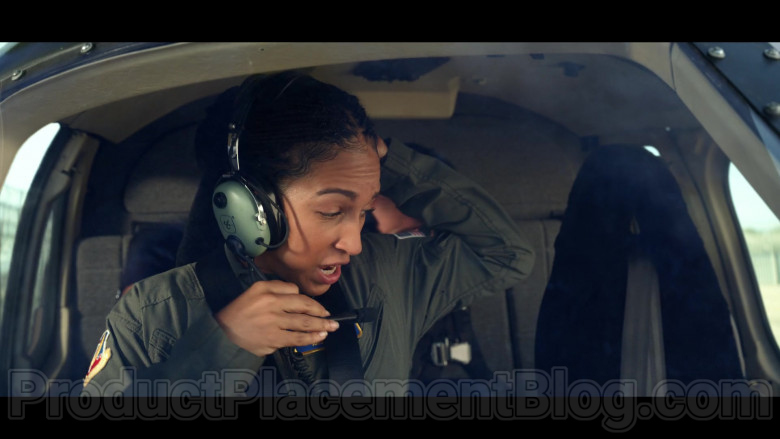 Tawny Newsome as Angela Ali Using David Clark Aviation Headset in Space Force S01E06 TV Show (2)