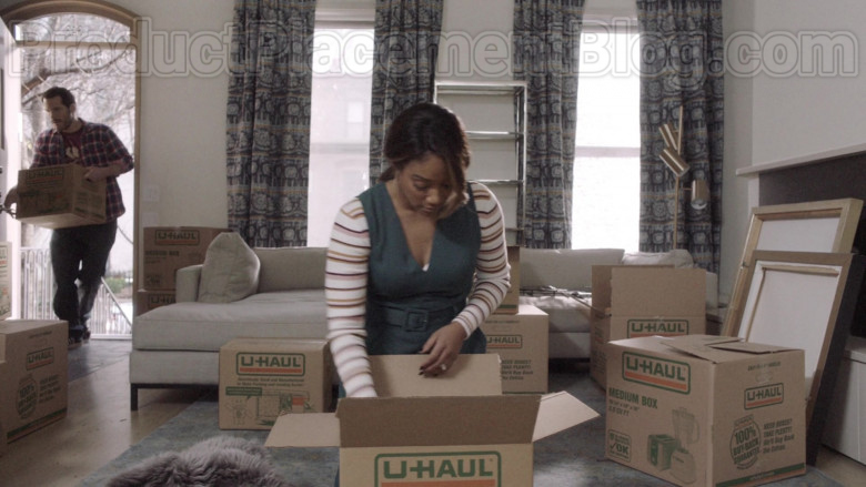 U-Haul Boxes Used by Tiffany Haddish as Shay in The Last O.G. TV Show [S03E06] (1)