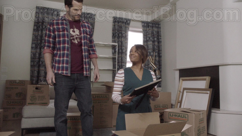 U-Haul Boxes Used by Tiffany Haddish as Shay in The Last O.G. TV Show [S03E06] (2)
