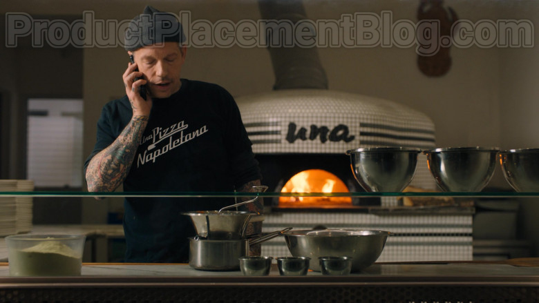 Una Pizza Napoletana Restaurant and Worker's T-Shirt Seen in Billions S05E03 TV Series (1)