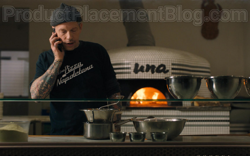 Una Pizza Napoletana Restaurant and Worker's T-Shirt Seen in Billions S05E03 TV Series (1)