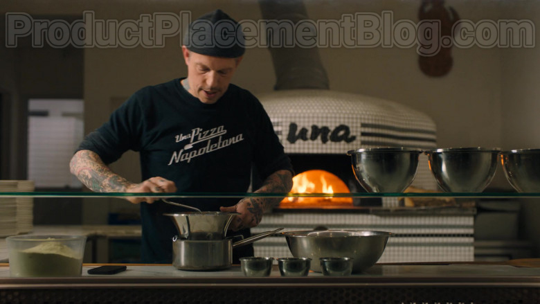 Una Pizza Napoletana Restaurant and Worker's T-Shirt Seen in Billions S05E03 TV Series (3)