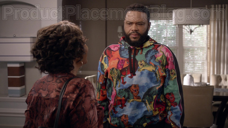 Valentino Multi-Tiger Pullover Hoodie of Anthony Anderson as Dre in Black-ish TV Series (2)