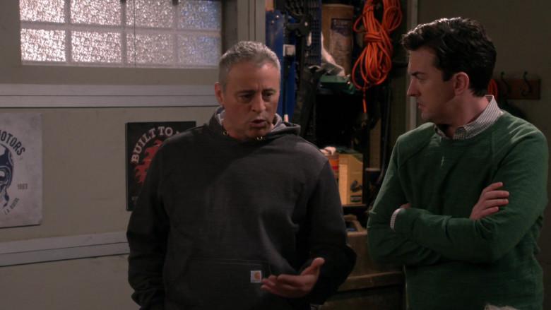 Actor Matt LeBlanc as Adam Wearing Carhartt Hoodie in Man with a Plan Season S04E12 TV Series (1)