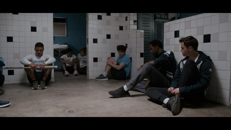 Actor Wearing Black Pants, Adidas Jacket & Sneakers Outfit in 13 Reasons Why S04E06 TV Show