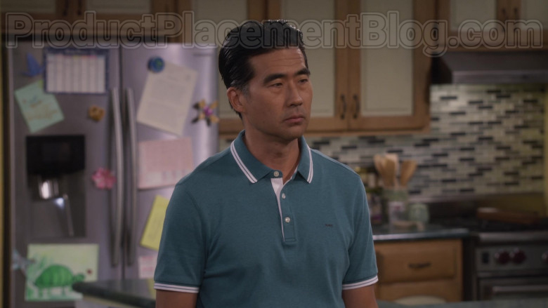 Actor Wearing Michael Kors MK Logo Polo Shirt For Men in Fuller House S05E18 TV Show by Netflix