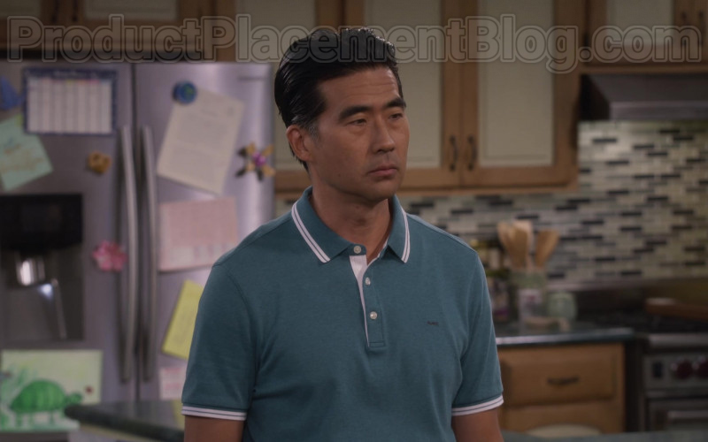 Actor Wearing Michael Kors MK Logo Polo Shirt For Men in Fuller House S05E18 TV Show by Netflix