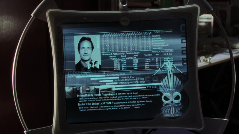 Actors Using Dell Futuristic Monitor in A.I. Artificial Intelligence Monitor (2)