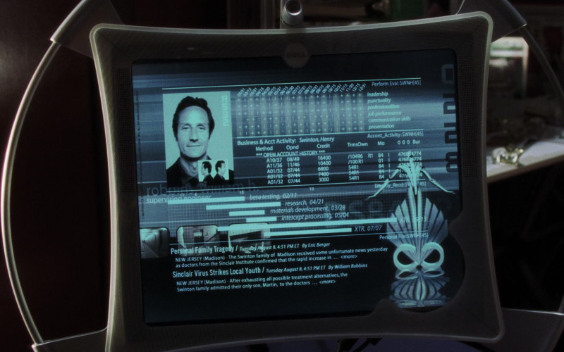 Actors Using Dell Futuristic Monitor in A.I. Artificial Intelligence Monitor (2)
