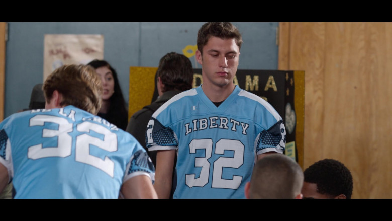 Actors Wearing Champion Blue Jerseys in 13 Reasons Why S04E01 (1)