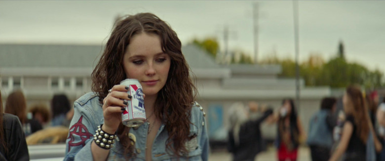 Actress Amy Forsyth Enjoying Pabst Blue Ribbon Beer in We Summon the Darkness Film (1)
