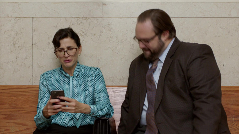 Actress Using Apple iPhone Smartphone in Search Party S03E07 Rogue Witness (2020)