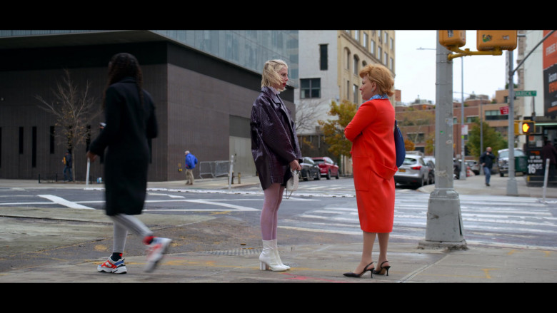 Actress Wears Nike Air Monarch the M2K Tekno Chunky Sneakers in The Politician S02E01