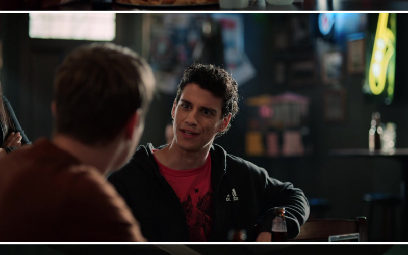 Adidas Black Hoodie of Adam DiMarco as Randall Carpio in The Order S02E03