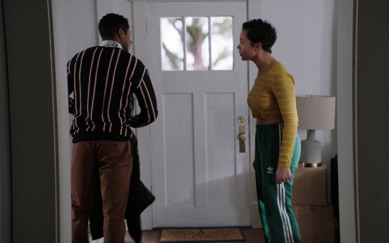 Adidas Green Track Pants Worn by Michele Weaver as Luly in Council of Dads S01E07