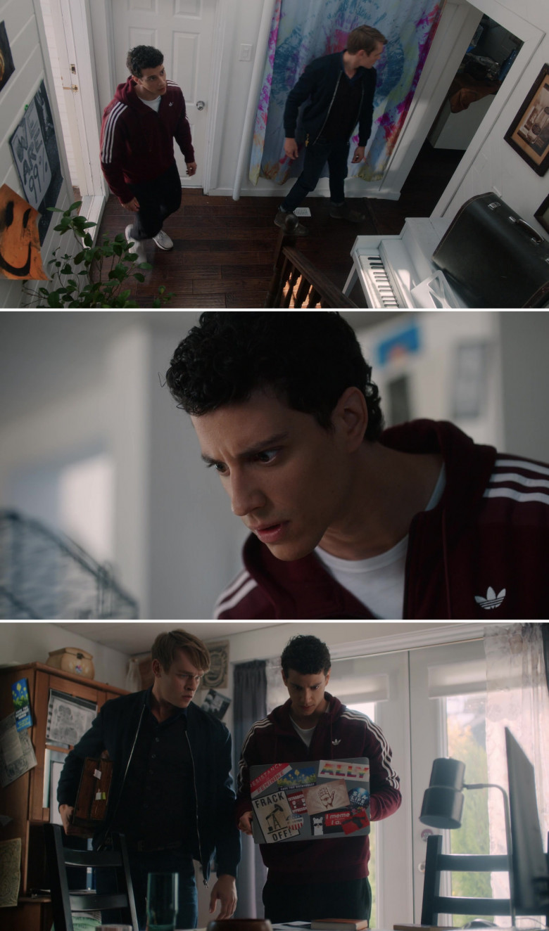 Adidas Hoodie Worn by Adam DiMarco in The Order S02E02 TV Series (1)