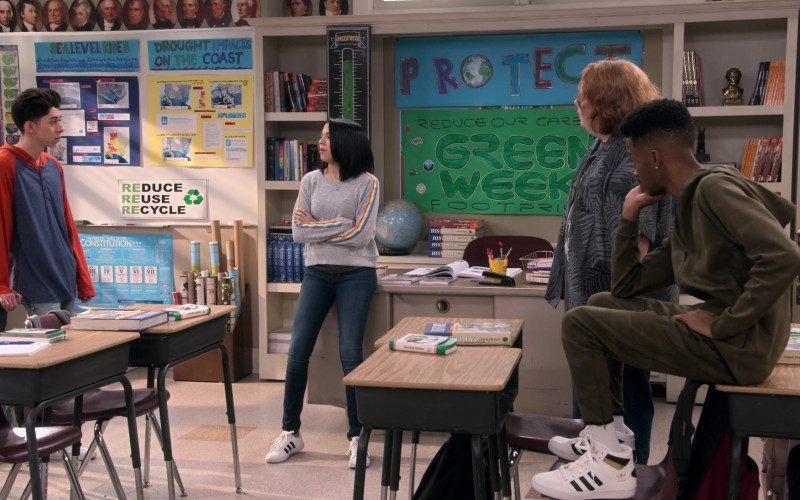 Adidas Originals Hardcourt High Top Sneakers of Coy Stewart as Lorenzo in Mr. Iglesias S02E04
