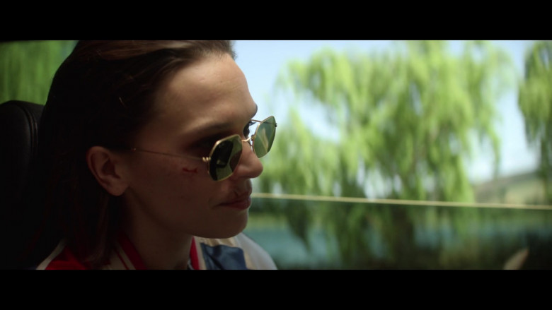 Anna Brewster Wearing Ray-Ban Women's Sunglasses in The Last Days of American Crime 2020 Movie (2)