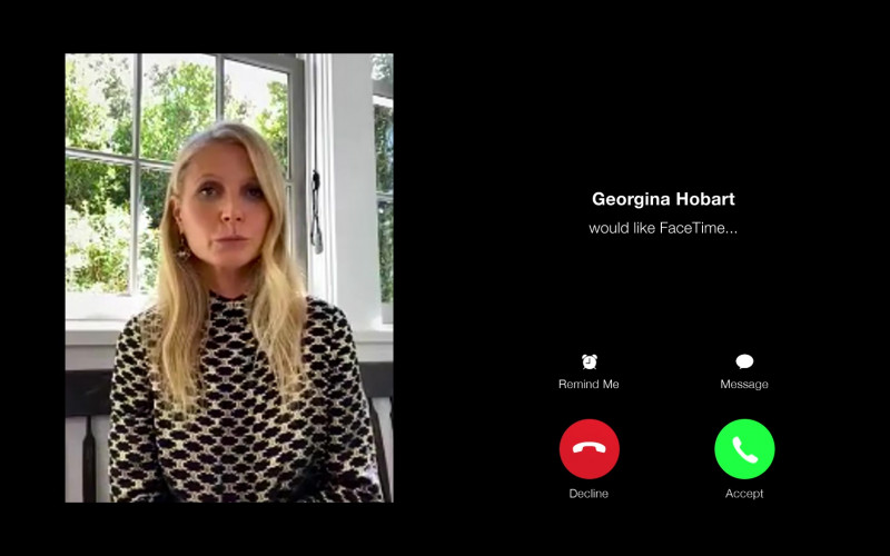 Apple FaceTime App Used by Gwyneth Paltrow as Georgina Hobart in The Politician S02E07 TV Show