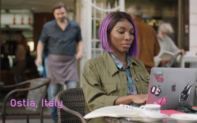 Apple MacBook Laptop Used by Michaela Coel as Arabella in I May Destroy You S01E03