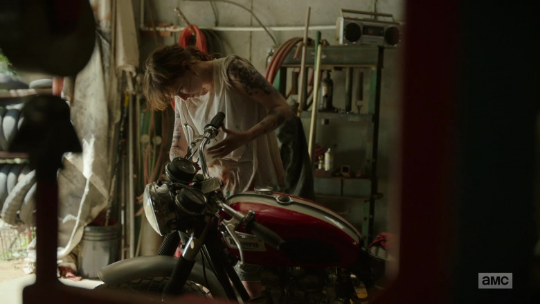 Ashleigh Cummings as Victoria Vic McQueen Using Triumph Motorcycle in NOS4A2 Season 2 TV Show (1)