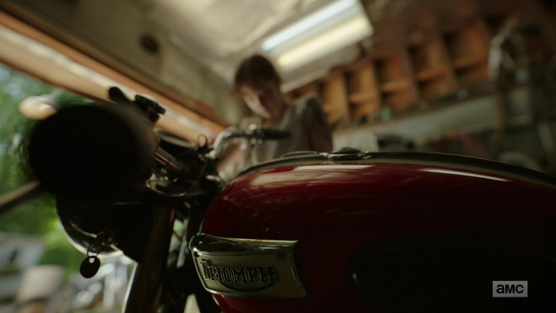 Ashleigh Cummings as Victoria Vic McQueen Using Triumph Motorcycle in NOS4A2 Season 2 TV Show (2)