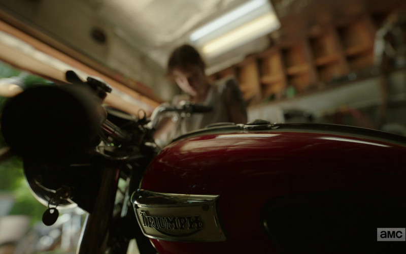 Ashleigh Cummings as Victoria Vic McQueen Using Triumph Motorcycle in NOS4A2 Season 2 TV Show (2)