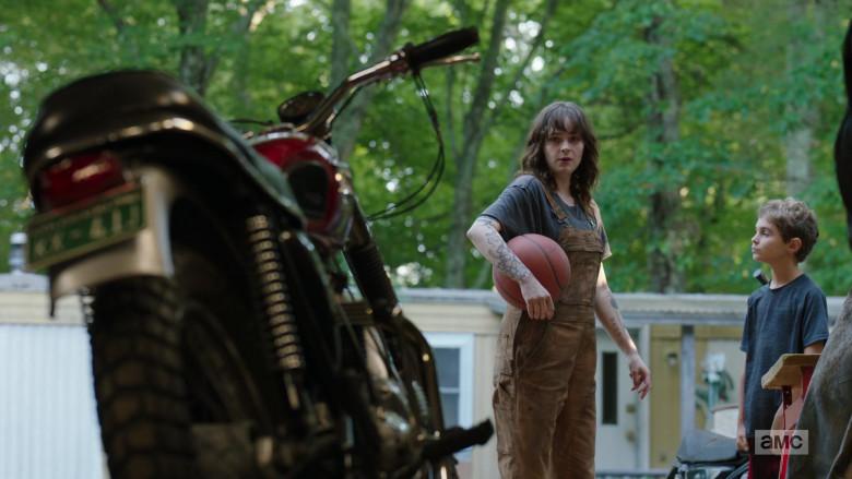 Ashleigh Cummings as Victoria Vic McQueen Using Triumph Motorcycle in NOS4A2 Season 2 TV Show (6)