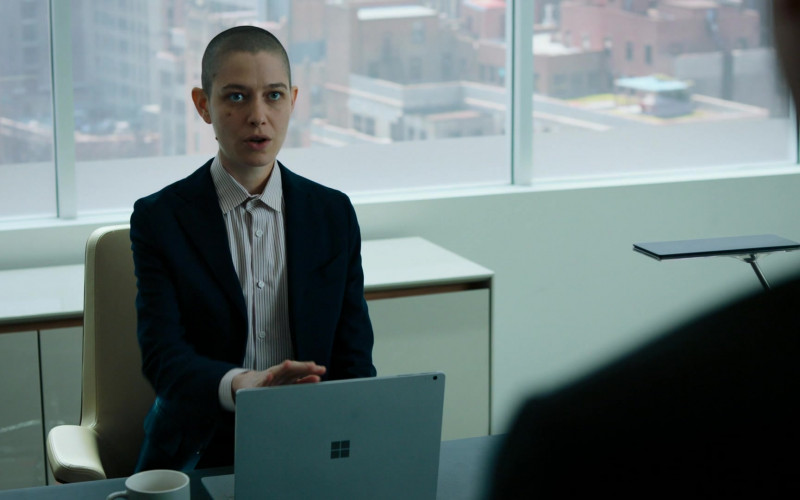 Asia Kate Dillon as Taylor Amber Mason Using Microsoft Surface Laptop in Billions S05E06 TV Show
