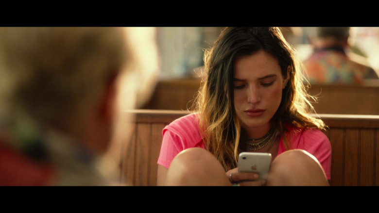 Bella Thorne as Arielle Summers Using Apple iPhone Smartphone in Infamous 2020 Movie (5)
