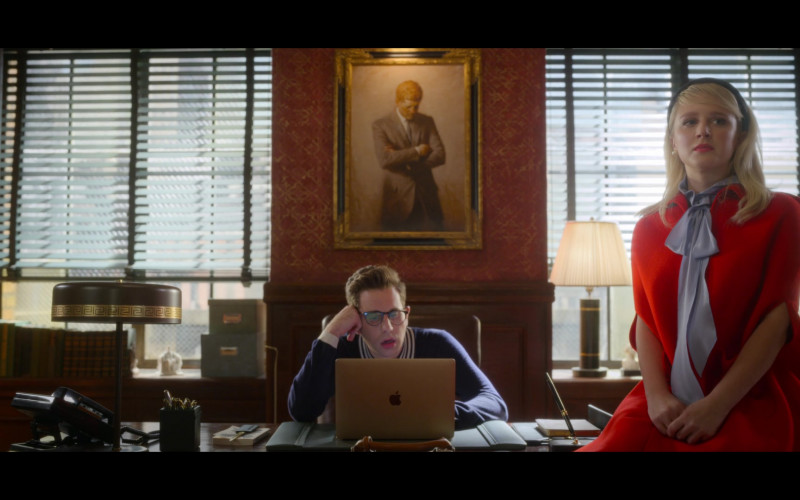 Ben Platt as Payton Hobart Using Apple MacBook Laptop in The Politician Season 2 Episode 1 Netflix TV Show