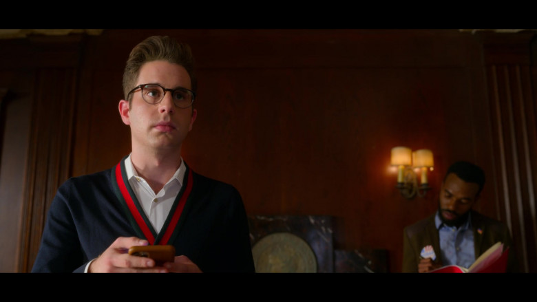 Ben Platt as Payton Wearing Gucci Wool Knit Cardigan in The Politician S02E01 TV Series (1)