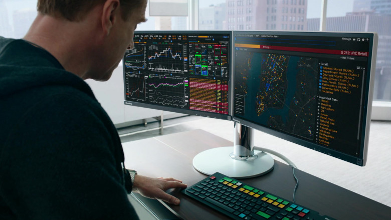 Bloomberg Terminals Used by Damian Lewis as Bobby Axelrod In Billions S05E07 (2)