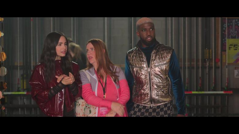 Brandon Kyle Goodman Wears Gucci Trousers in Feel the Beat (2020) Movie
