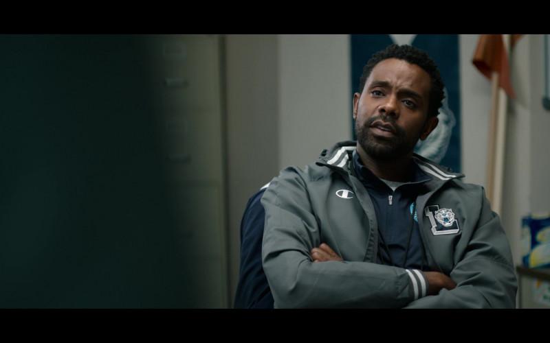 Brandon Scott as Coach Kerba Wearing Champion Jacket in 13 Reasons Why S04E03 TV Show