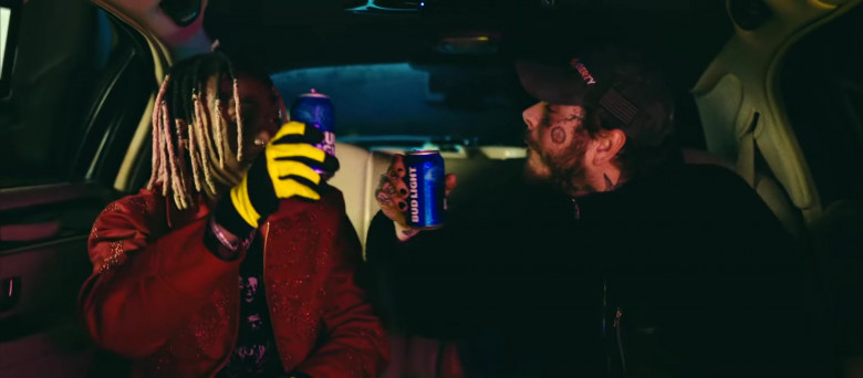 Bud Light Beer Enjoyed by Tyla Yaweh and Post Malone in Tommy Lee 2020 Music Video (7)