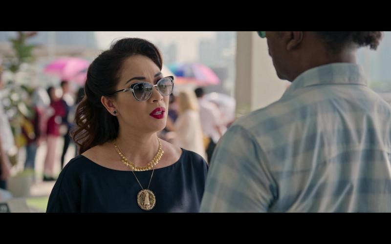 Cartier Cat Eye Panthère Divine Sunglasses Worn by Lê Y Lan in Da 5 Bloods (2020)