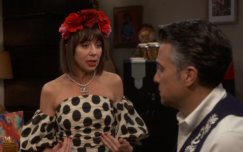 Chanel Necklace Worn by Natasha Leggero in Broke S01E11 Cinco de Mayo (2020)
