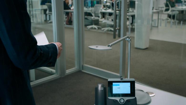 Cisco Video Phone Used by Stephen Kunken as Ari Spyros in Billions S05E06
