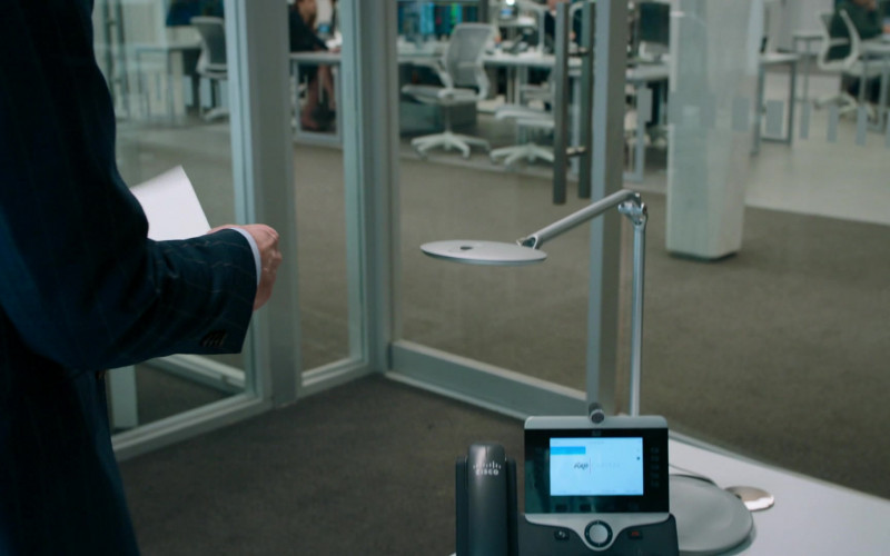 Cisco Video Phone Used by Stephen Kunken as Ari Spyros in Billions S05E06