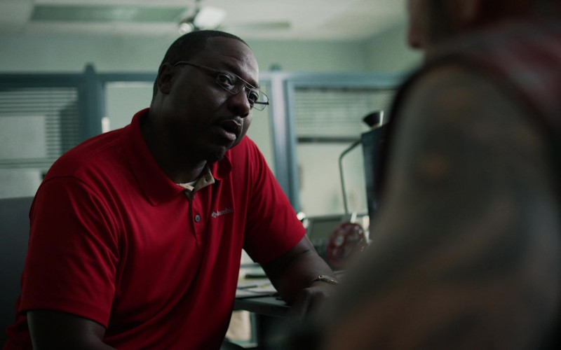 Dohn Norwood as Alan Wears Columbia Men's Red Polo Shirt in Hightown S01E06 TV Show (1)